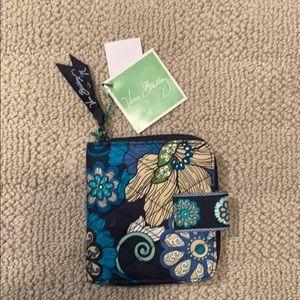 Handbags - Mini zip Vera Bradley Wallet - floral blue